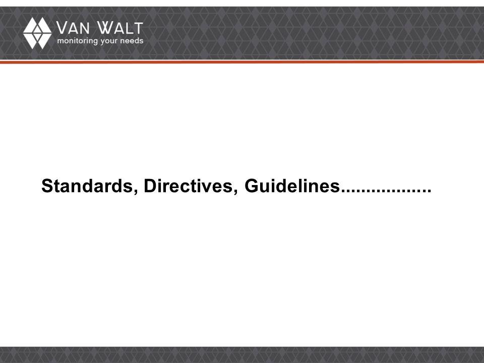 Standards, Directives, Guidelines..................