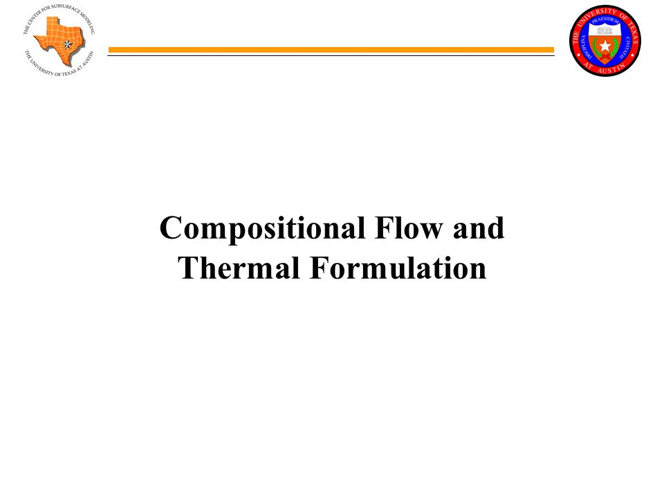 Compositional Flow and Thermal Formulation