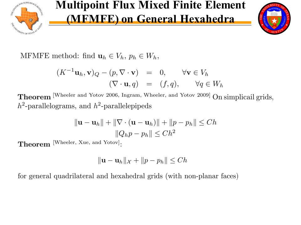 Multipoint Flux Mixed Finite Element (MFMFE) on General Hexahedra