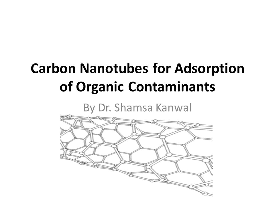 In terms of adsorption kinetics… the ordered pore structure of CNTs makes it easier for the diffusion of pollutants to adsorption sites (Lu et al., 2005).