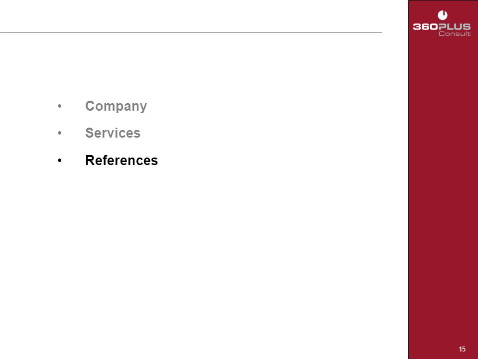 15 Company Services References