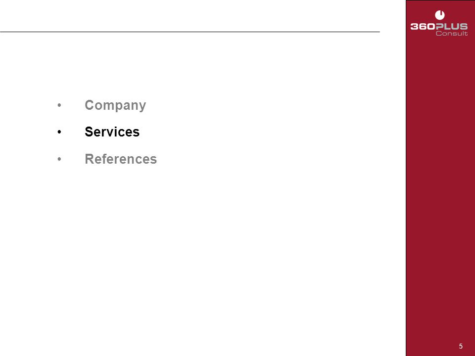 5 Company Services References