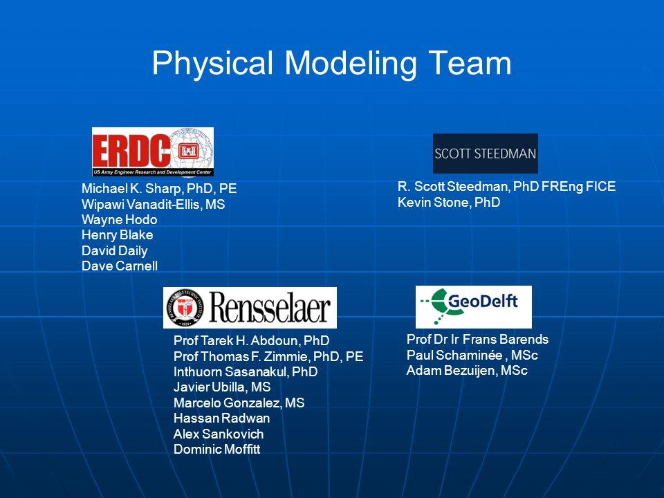 Physical Modeling Team Prof Tarek H. Abdoun, PhD Prof Thomas F.