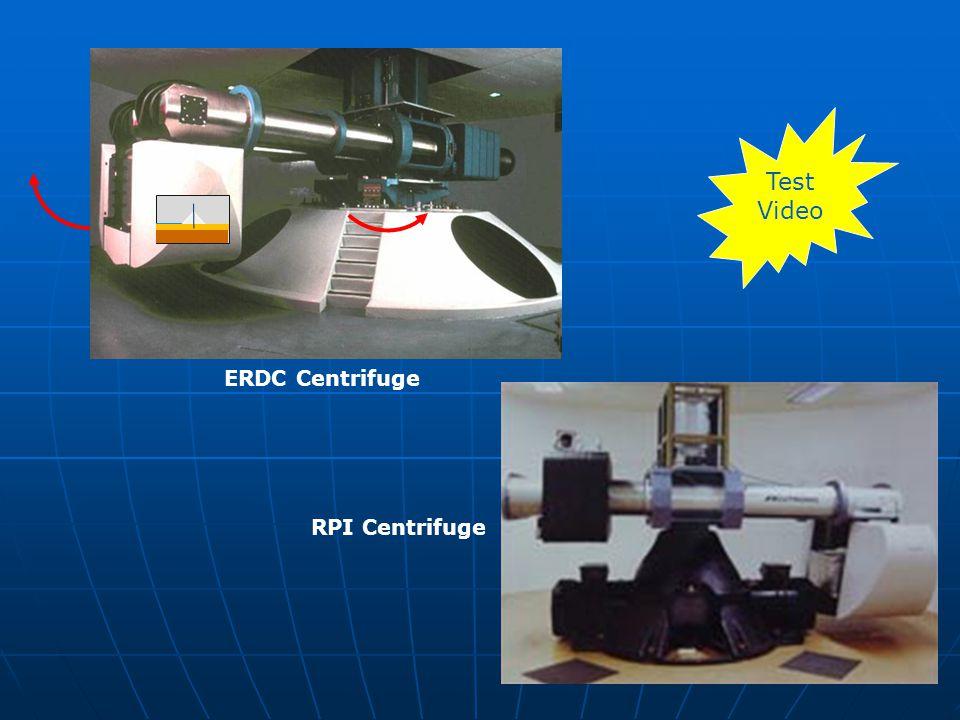 ERDC Centrifuge RPI Centrifuge Test Video