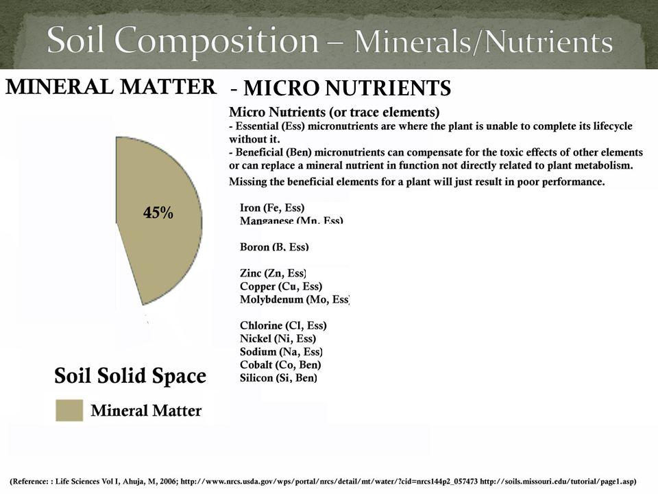 - MICRO NUTRIENTS