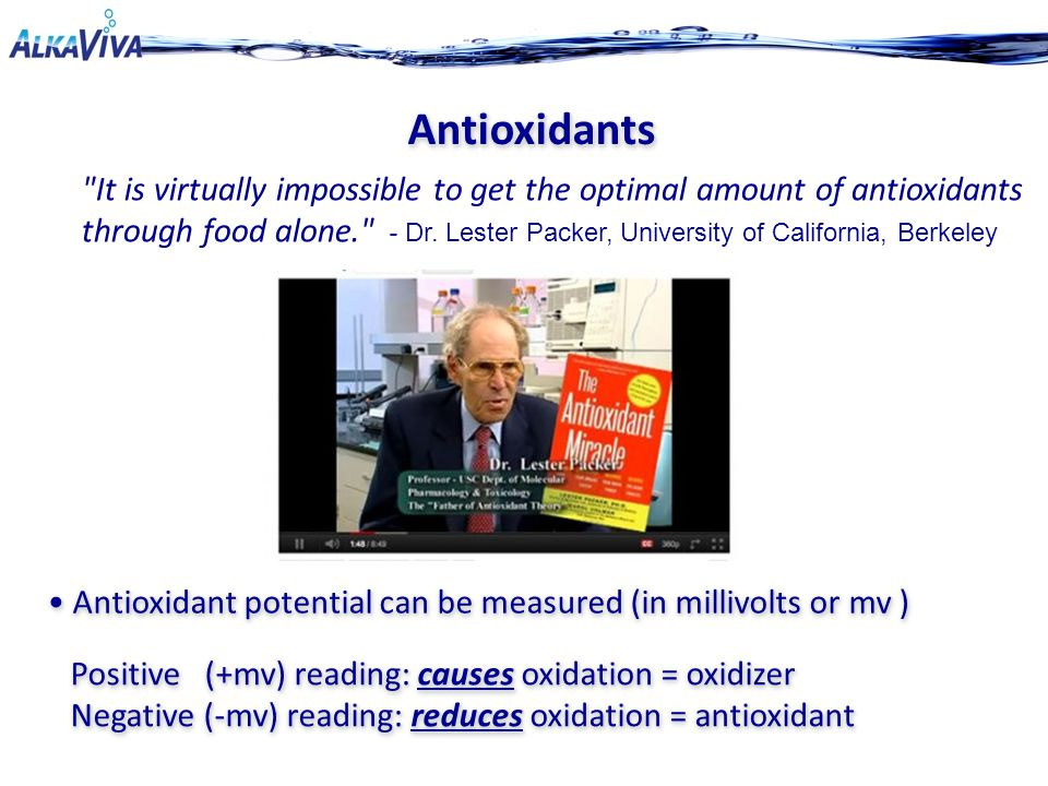 It is virtually impossible to get the optimal amount of antioxidants through food alone. - Dr.