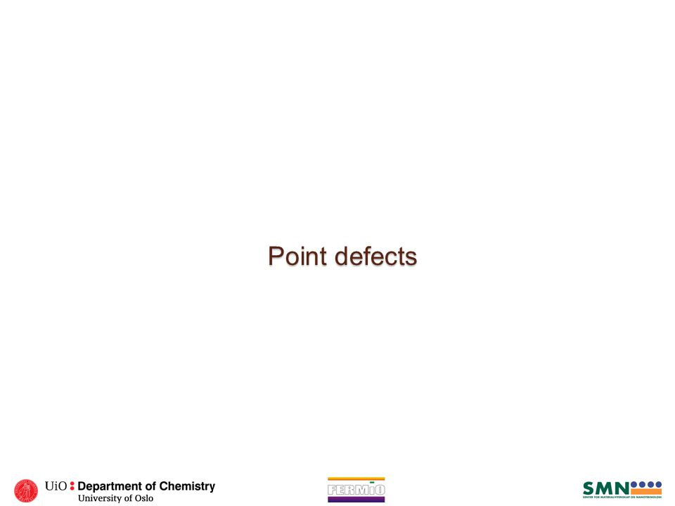 Point defects