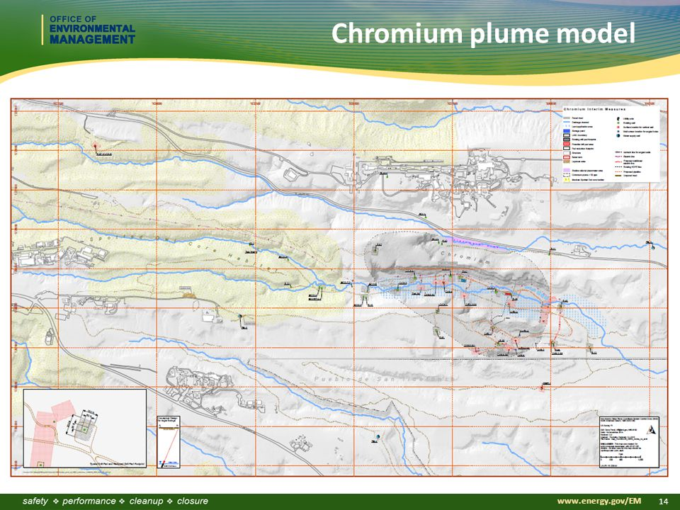 www.energy.gov/EM 14 Chromium plume model
