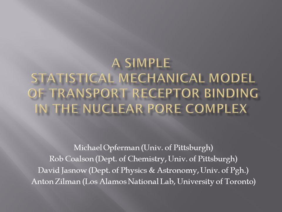 Michael Opferman (Univ. of Pittsburgh) Rob Coalson (Dept.
