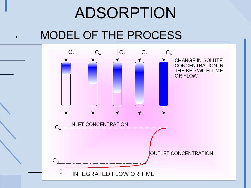 ADSORPTION MODEL OF THE PROCESS