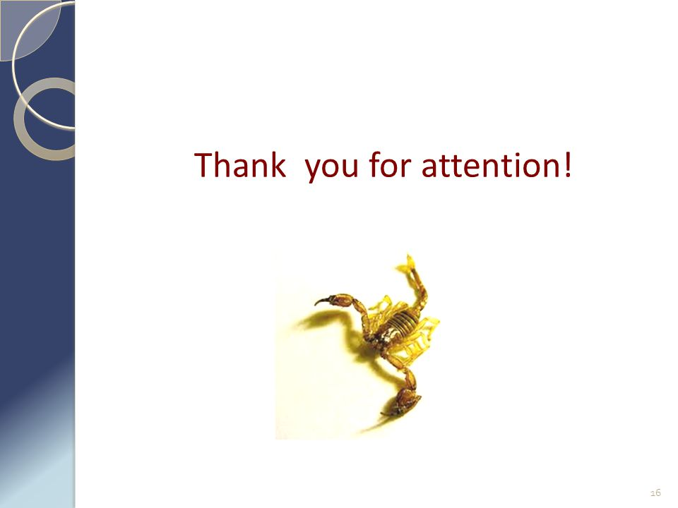 Thank you for attention! 16
