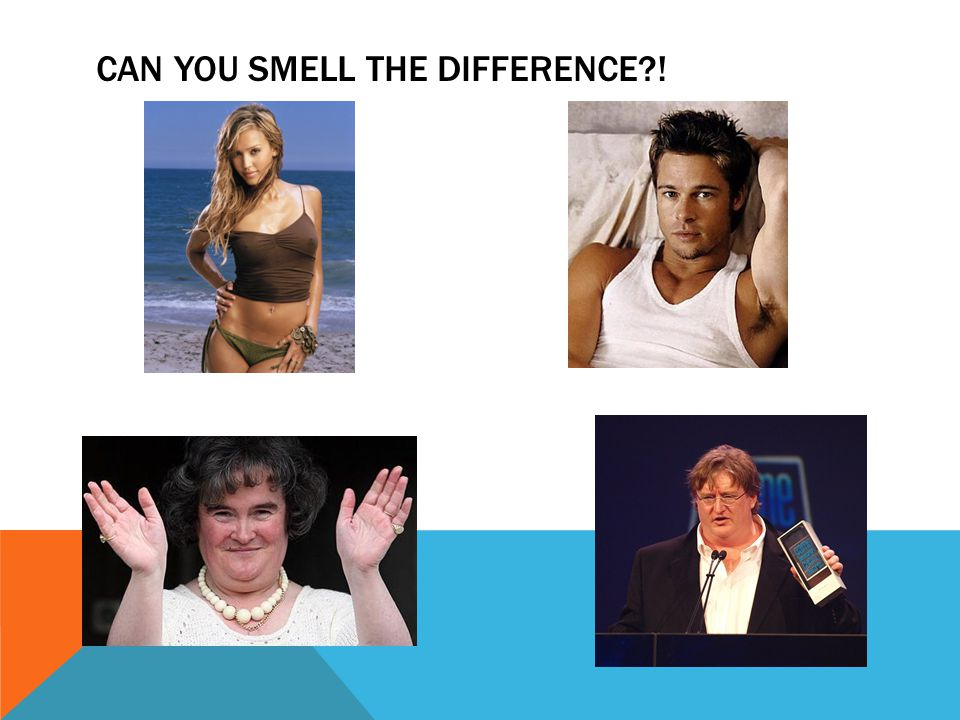 CAN YOU SMELL THE DIFFERENCE !