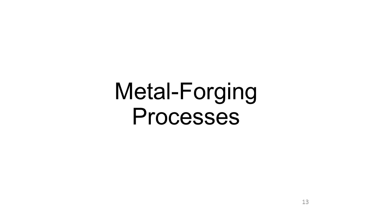Metal-Forging Processes 13