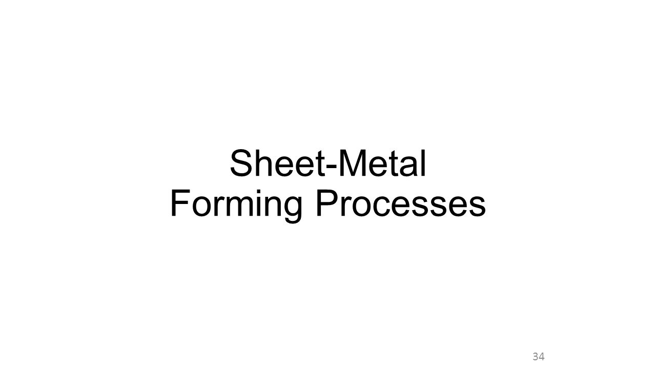 Sheet-Metal Forming Processes 34