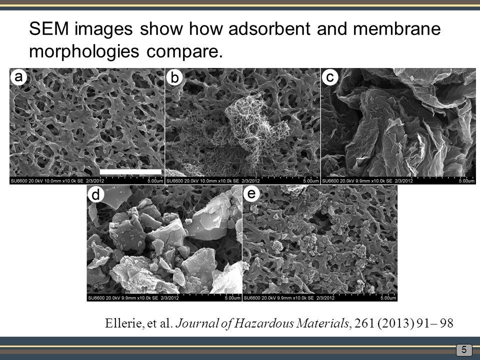 Super-fine powdered activated carbon on a 0.1 micron pore size microfiltration membrane. 6