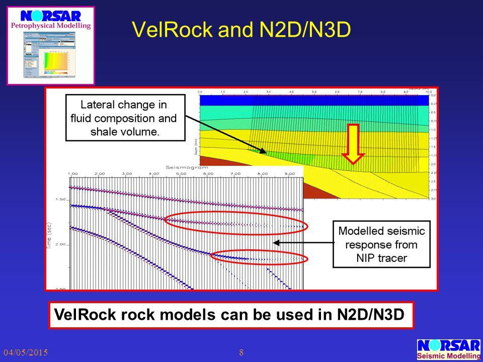 04/05/20158 VelRock and N2D/N3D VelRock rock models can be used in N2D/N3D