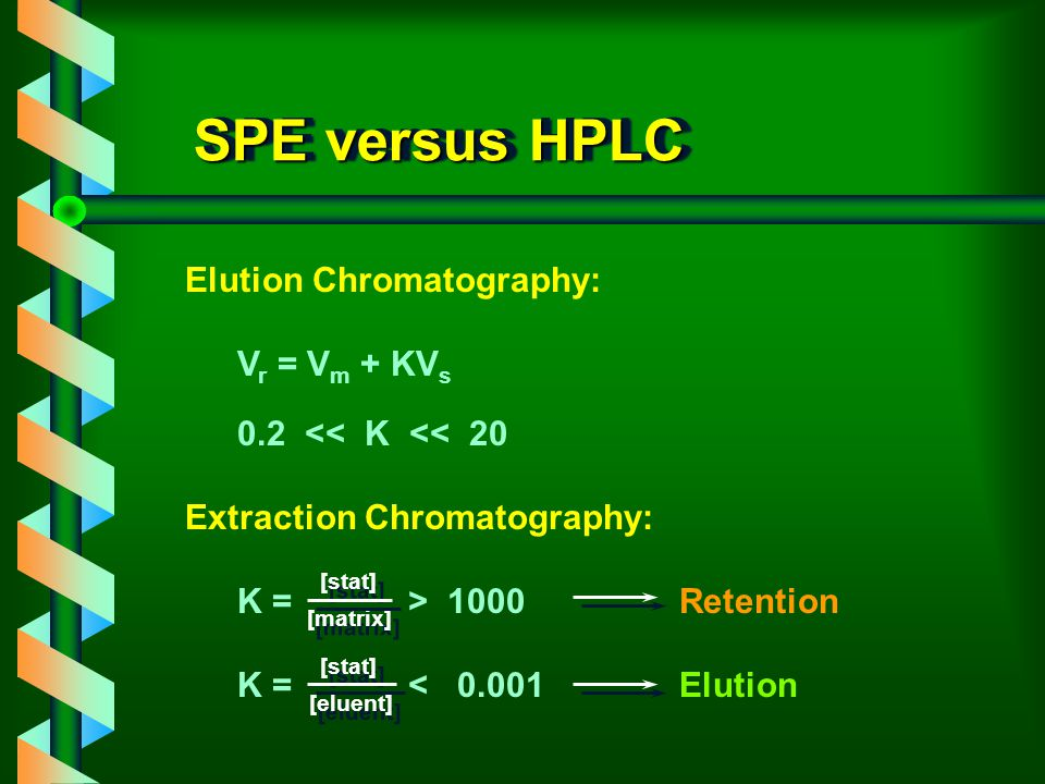 ENVIRONMENTAL ANALYSIS I. Solid Phase Extraction fundamentals of SPE