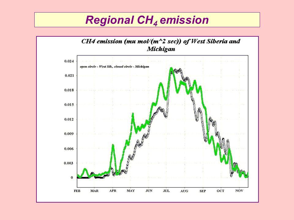 Regional CH 4 emission