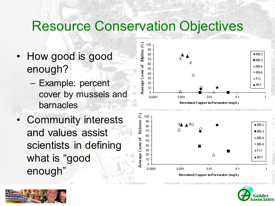 Resource Conservation Objectives How good is good enough.