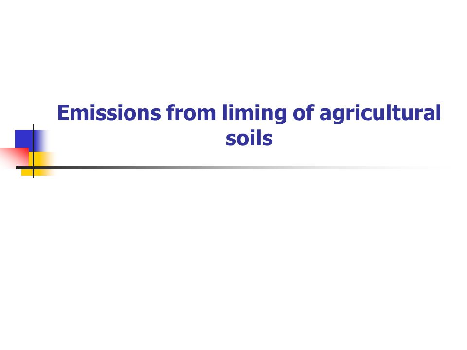 Emissions from liming of agricultural soils