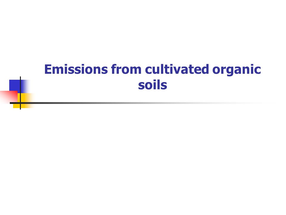 Emissions from cultivated organic soils