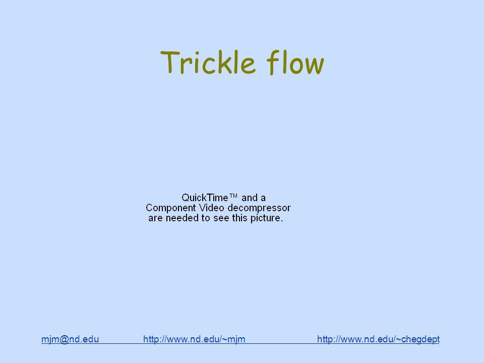 mjm@nd.edu http://www.nd.edu/~mjm http://www.nd.edu/~chegdepthttp://www.nd.edu/~mjmhttp://www.nd.edu/~chegdept Trickle flow
