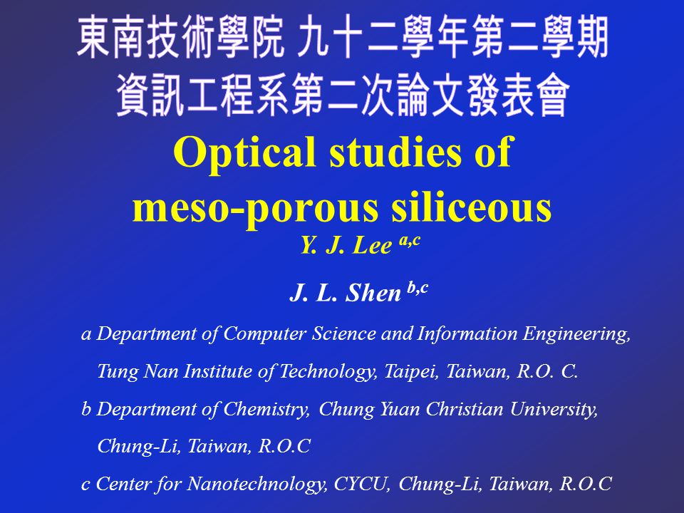 Result and Discussion Photoluminescence spectra of MCM-41 after RTA at room temperature.