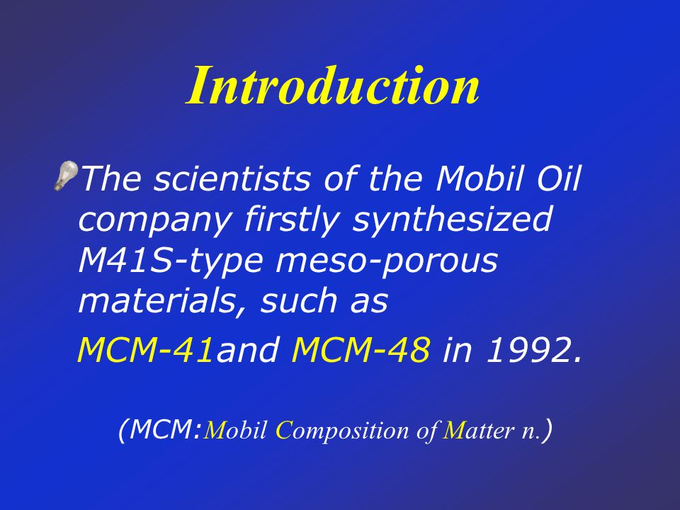 http://terra.cm.kyushuu.ac.jp/lab/ research/nano/Quantum.html The simulate synthesis process of MCM-41 MCM-41 has hexagonal arrangement of unidirectional pores with very narrow pore size distribution, which can be systematically varied in size from approximately ~20 to 200Å.