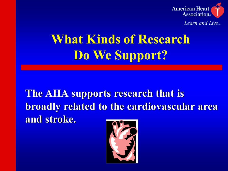 What Kinds of Research Do We Support.