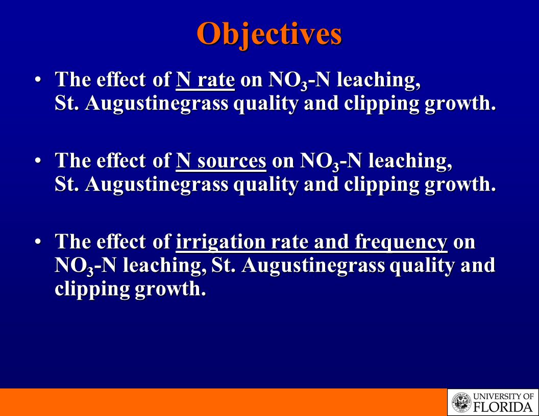 The effect of N rate on NO 3 -N leaching, St.