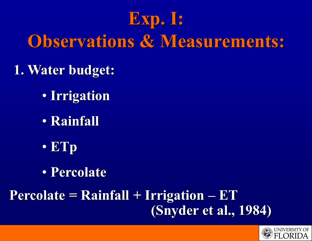 Exp. I: Observations & Measurements: 1.