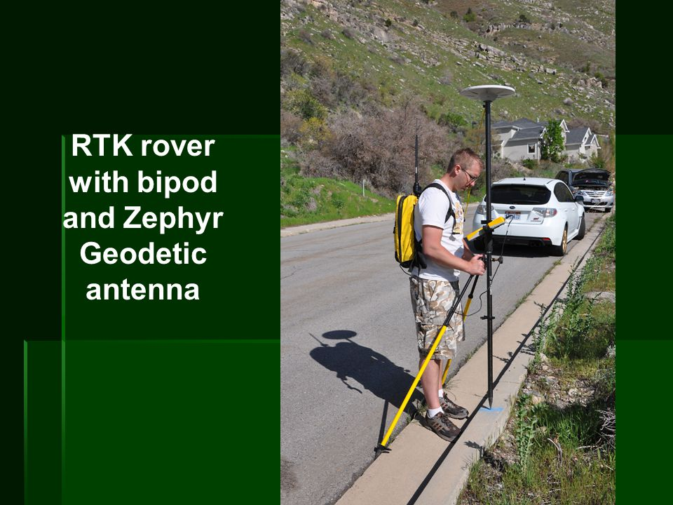RTK rover with bipod and Zephyr Geodetic antenna