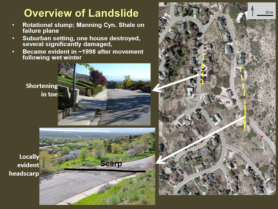 Overview of Landslide Rotational slump; Manning Cyn.