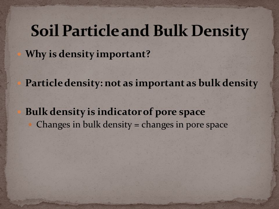 Why is density important.