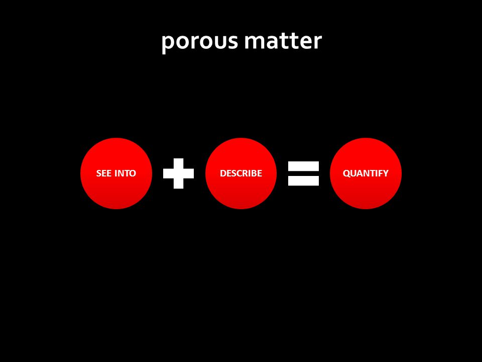 SEE INTODESCRIBEQUANTIFY porous matter