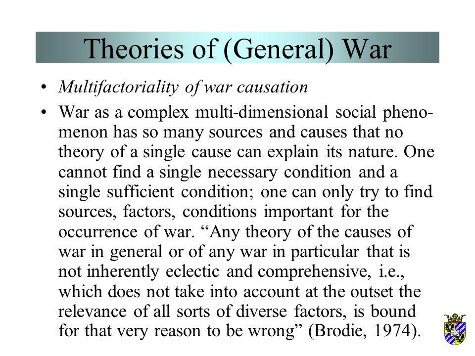 Theories of (General) War Singer & Small (1972) and Deutsch & Senghaas (1973) call