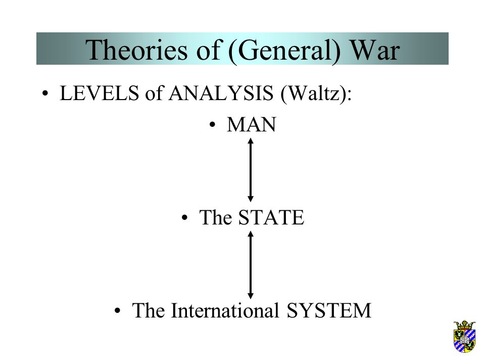 Theories of (General) War Distinction of peace and war.