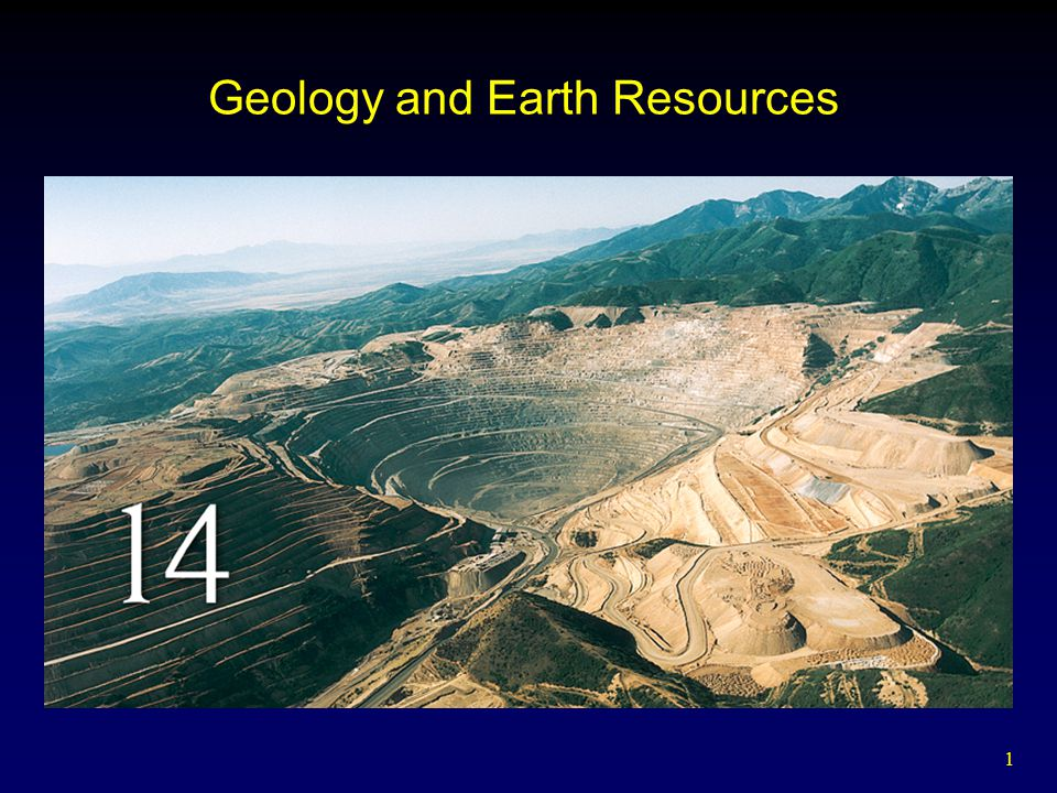 1 Geology and Earth Resources
