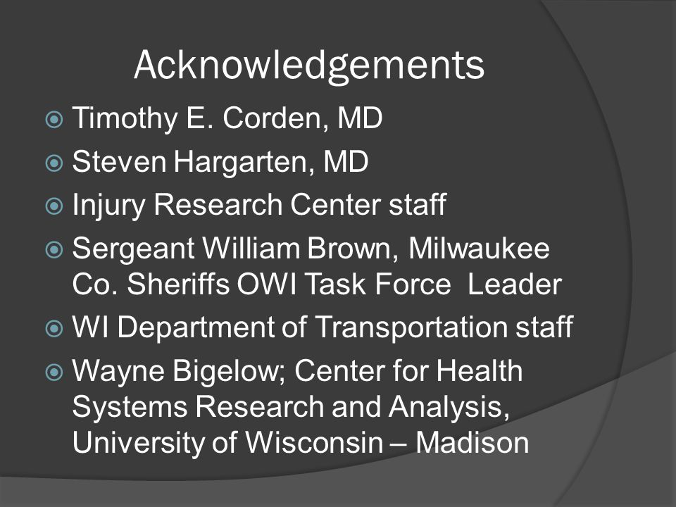 Acknowledgements  Timothy E.