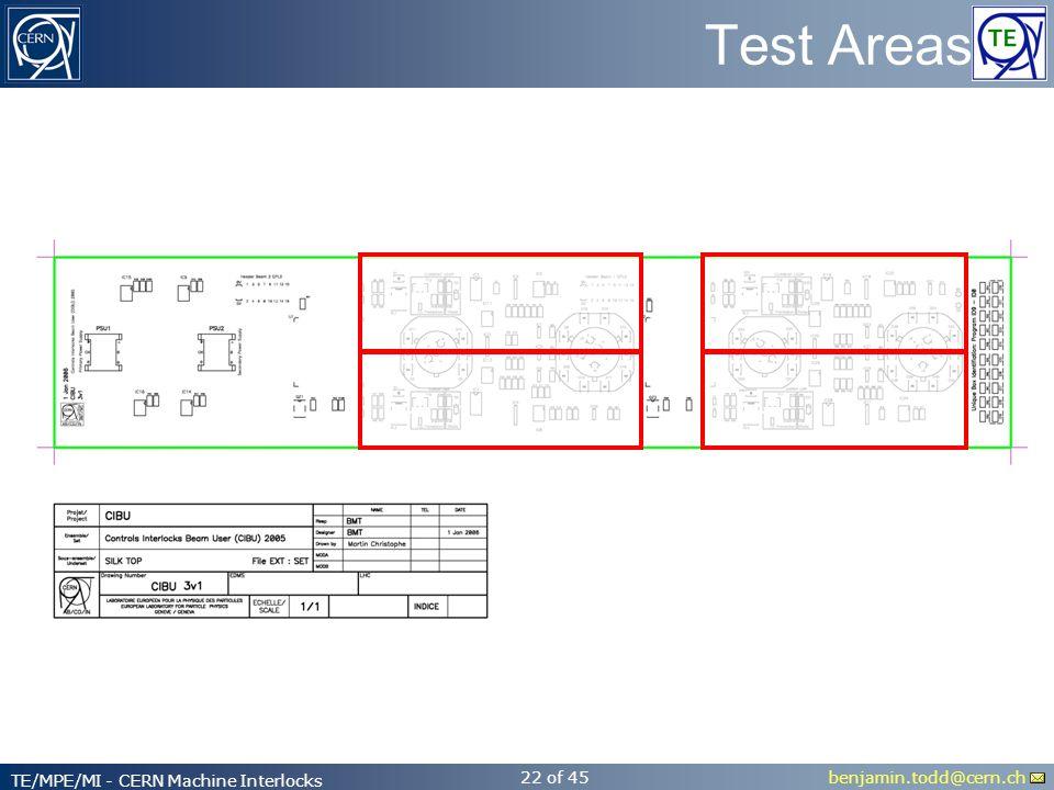 benjamin.todd@cern.ch TE/MPE/MI - CERN Machine Interlocks 22 of 45 Test Areas