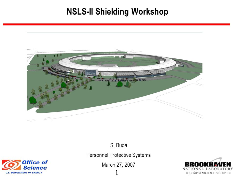 1 BROOKHAVEN SCIENCE ASSOCIATES NSLS-II Shielding Workshop S. Buda Personnel Protective Systems March 27, 2007