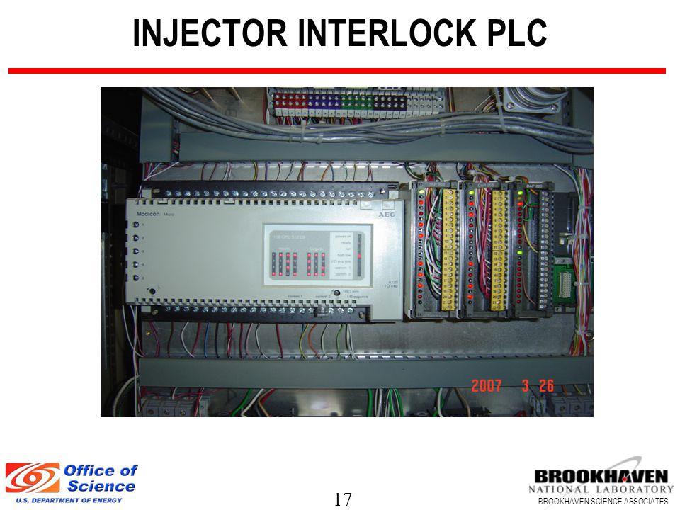 17 BROOKHAVEN SCIENCE ASSOCIATES INJECTOR INTERLOCK PLC