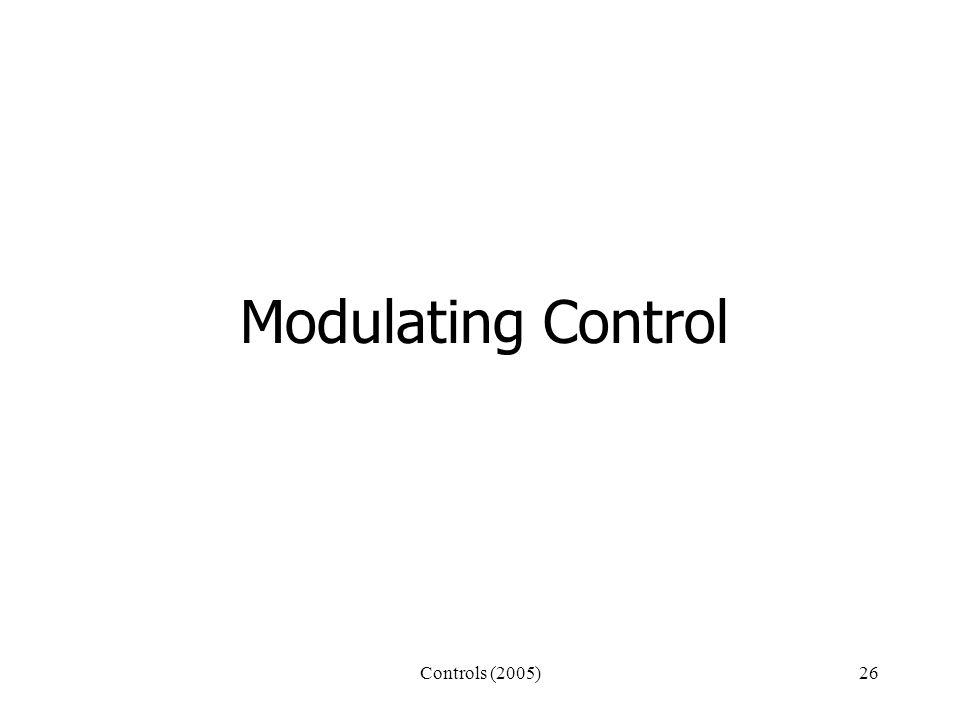 Controls (2005)26 Modulating Control