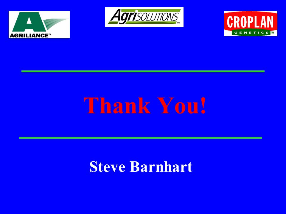 Thank You! Steve Barnhart