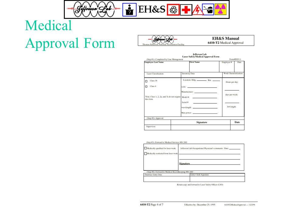 Medical Approval Form