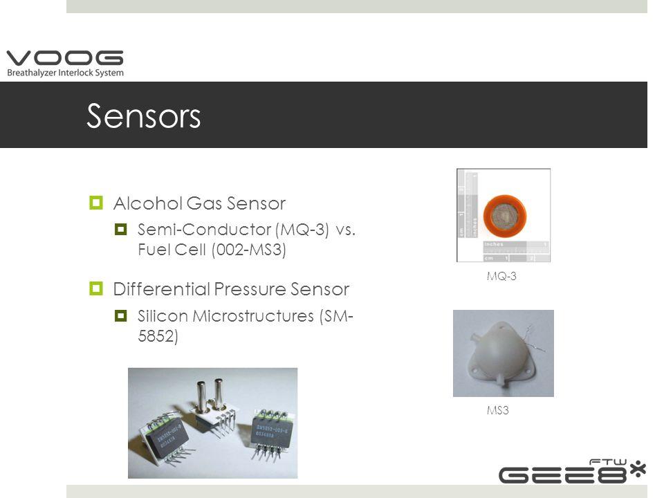 Sensors  Alcohol Gas Sensor  Semi-Conductor (MQ-3) vs.
