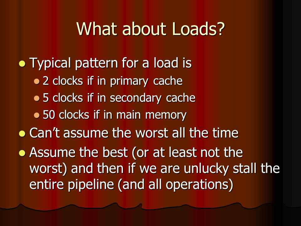 What about Loads.