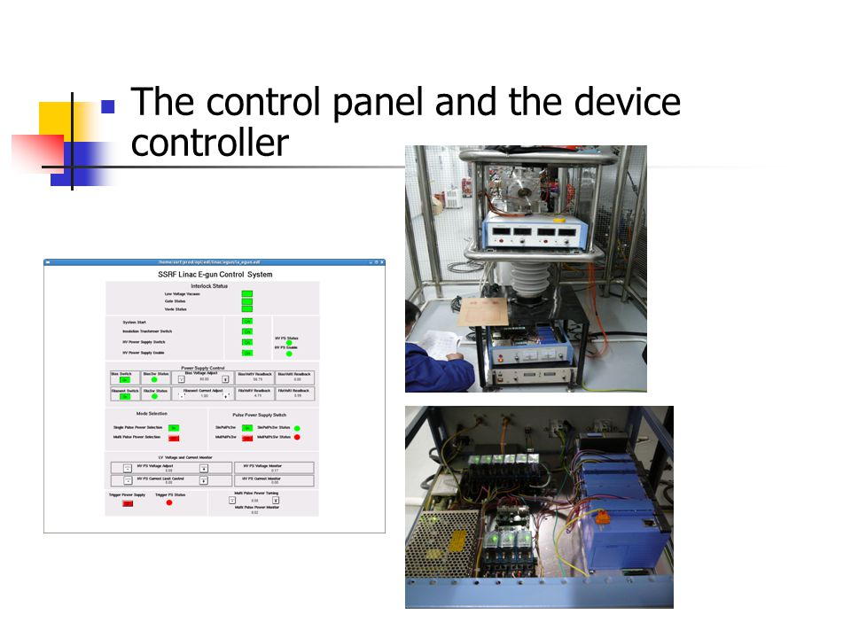 The control panel and the device controller