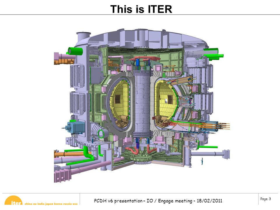 Page 3 PCDH v6 presentation – IO / Engage meeting - 18/02/2011 This is ITER