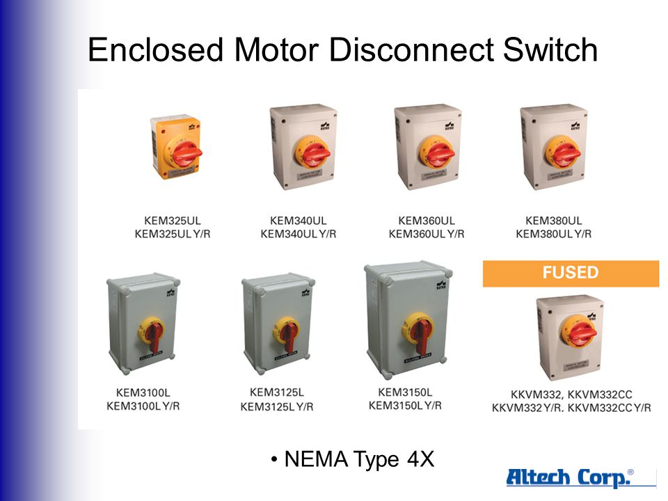 Enclosed Motor Disconnect Switch NEMA Type 4X